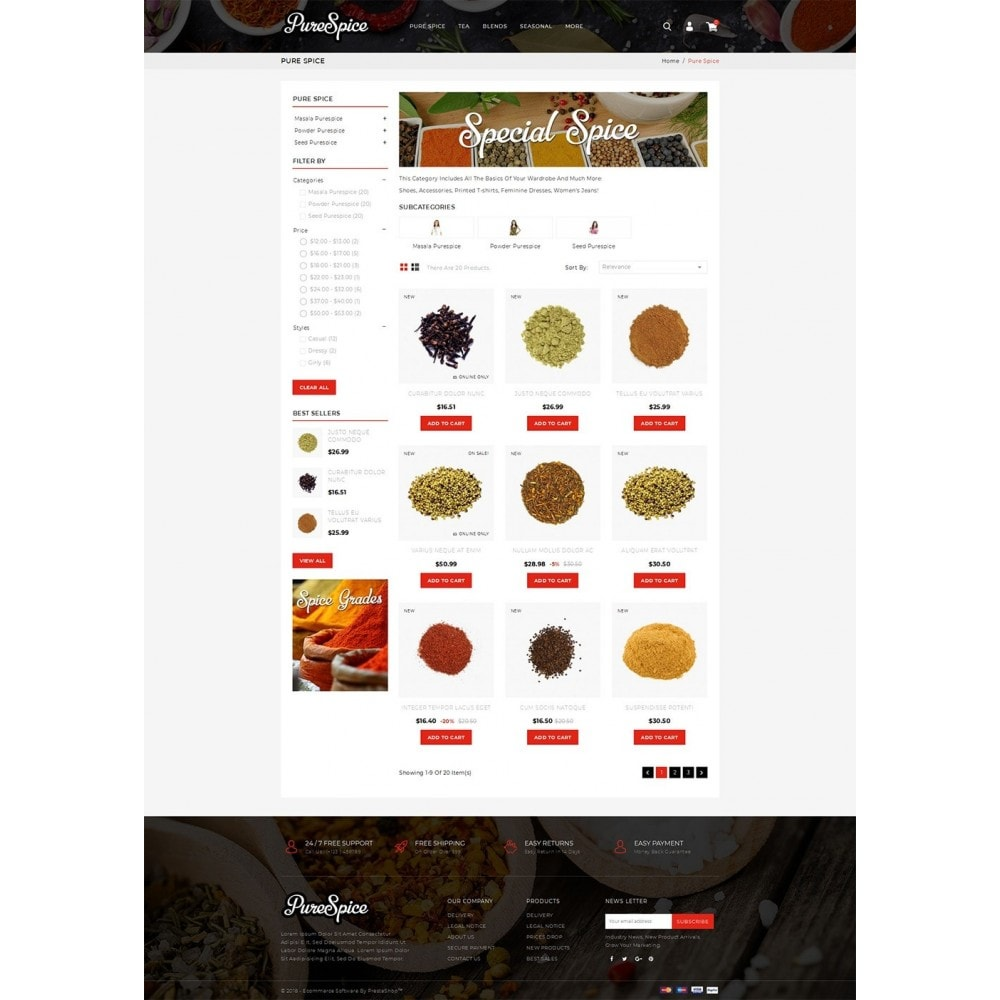 theme - Alimentation & Restauration - Purespice - Food Store - 3