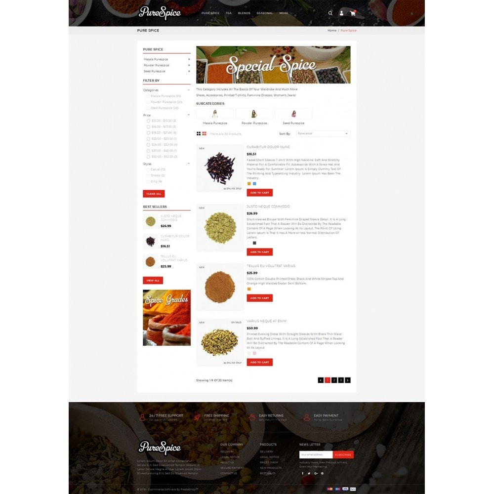 theme - Alimentation & Restauration - Purespice - Food Store - 4