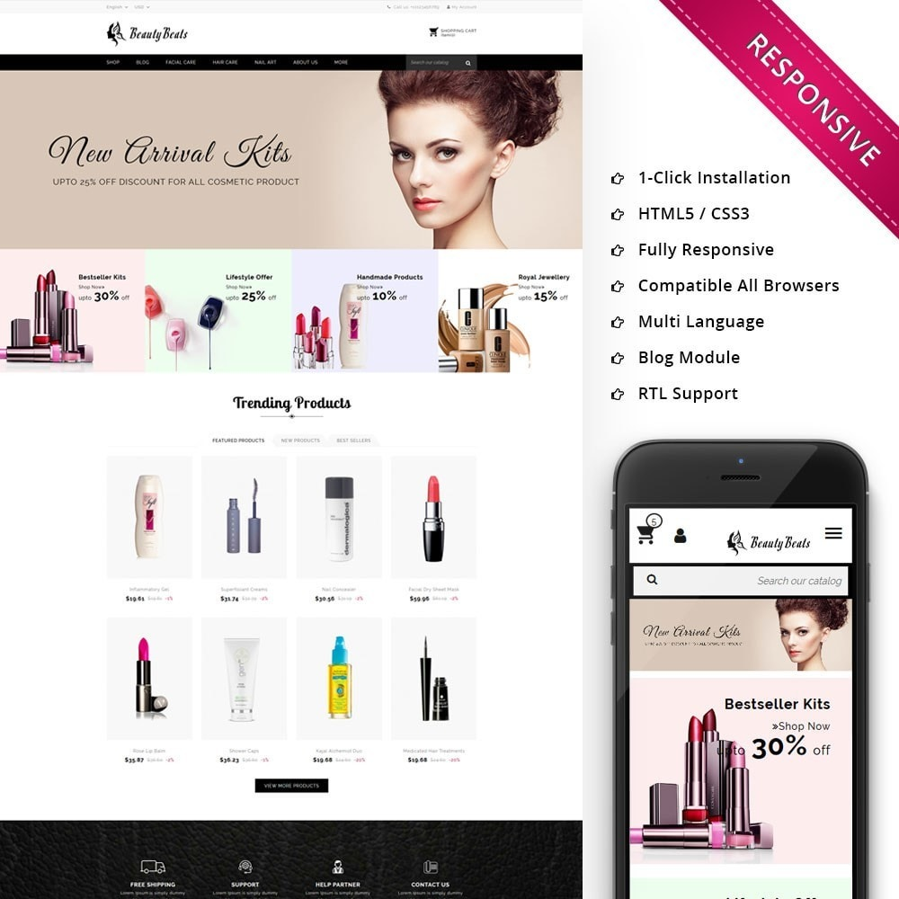 theme - Health & Beauty - Beauty Beats - The Beauty Shop - 1