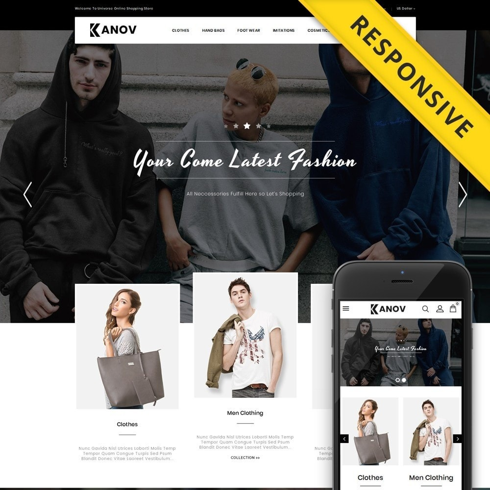 theme - Fashion & Shoes - Kanov - Fashion Store - 1