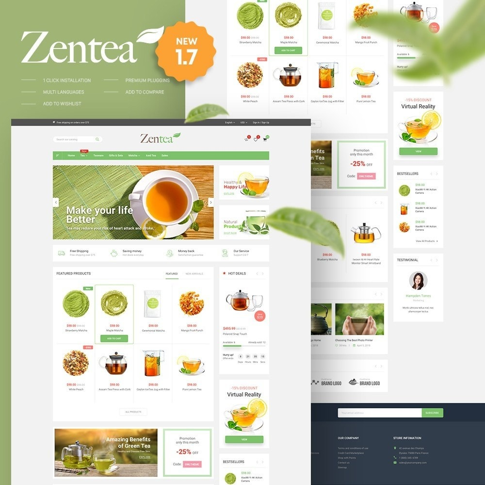 theme - Alimentos & Restaurantes - Zentea - Health & Beauty - 1