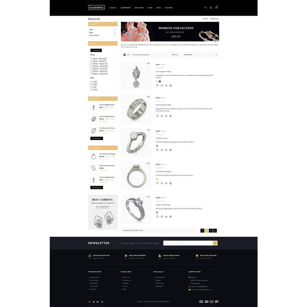 theme - Ювелирные изделия и Аксессуары - Classoni Store - 4