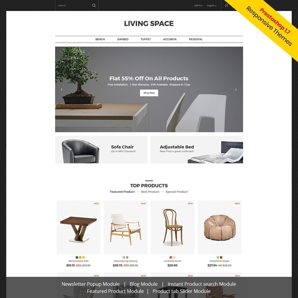 theme - Home & Garden - Living - Furniture Store - 1
