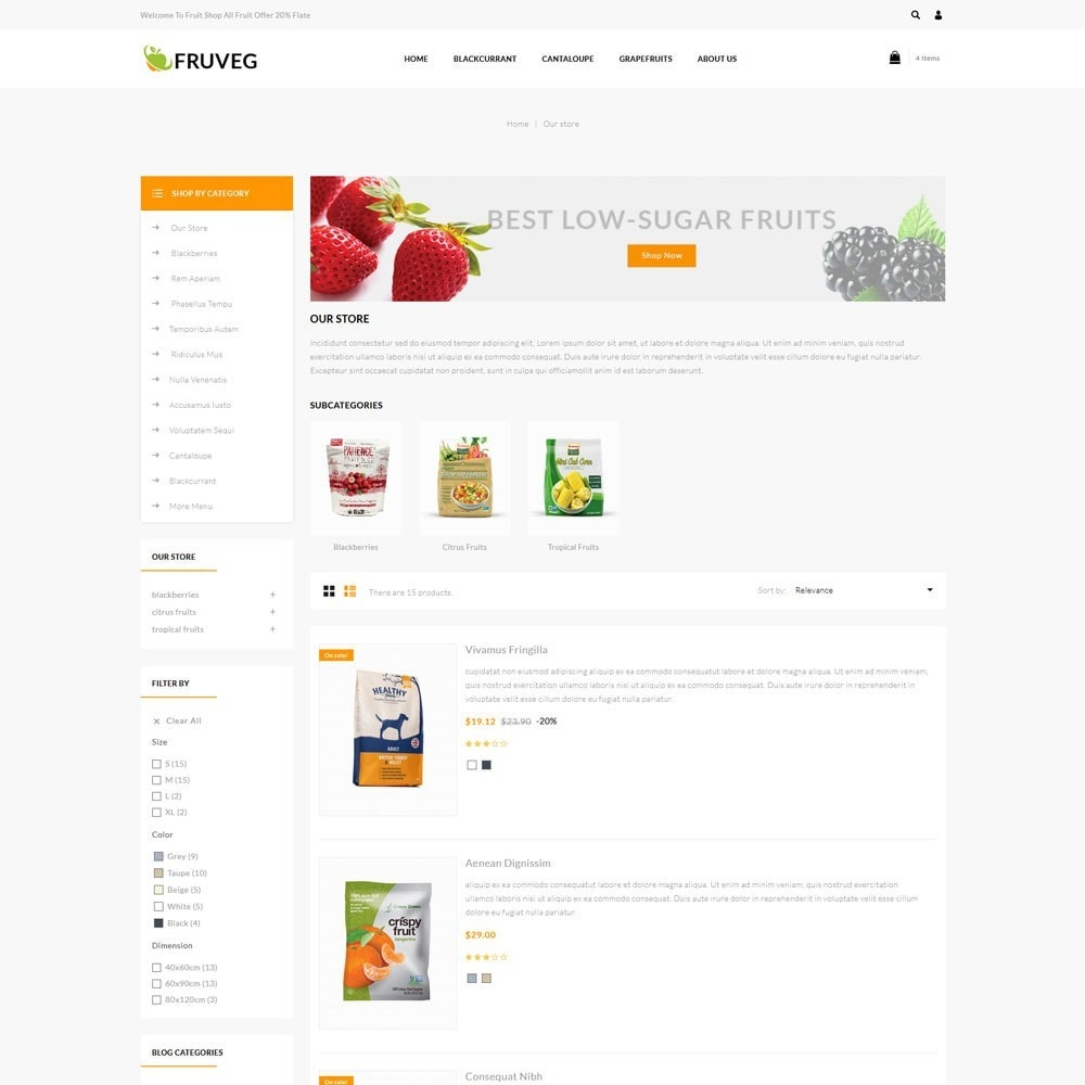 theme - Food & Restaurant - Fruveg - The Grocery Store - 5