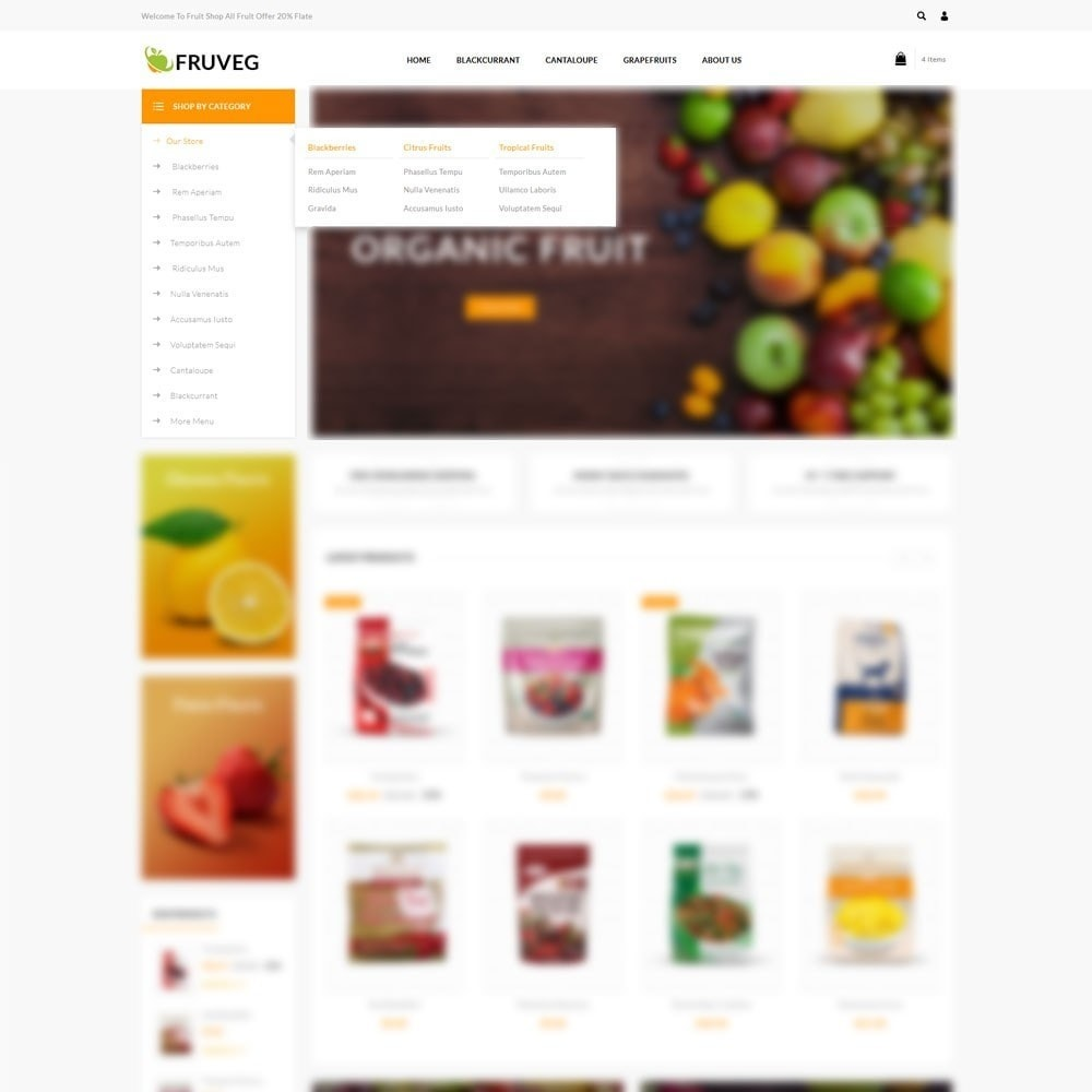 theme - Food & Restaurant - Fruveg - The Grocery Store - 8