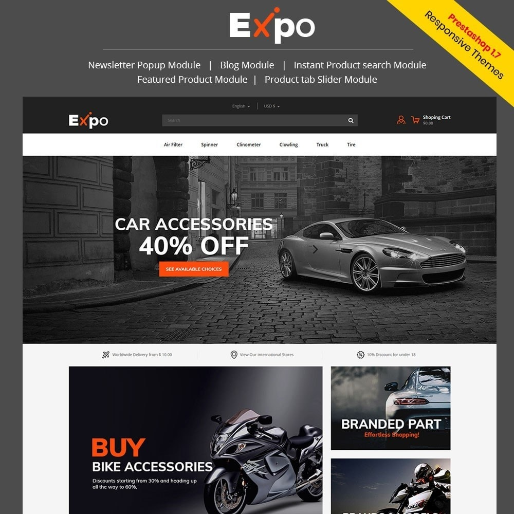 theme - Automotive & Cars - Tool - Auto Store - 1