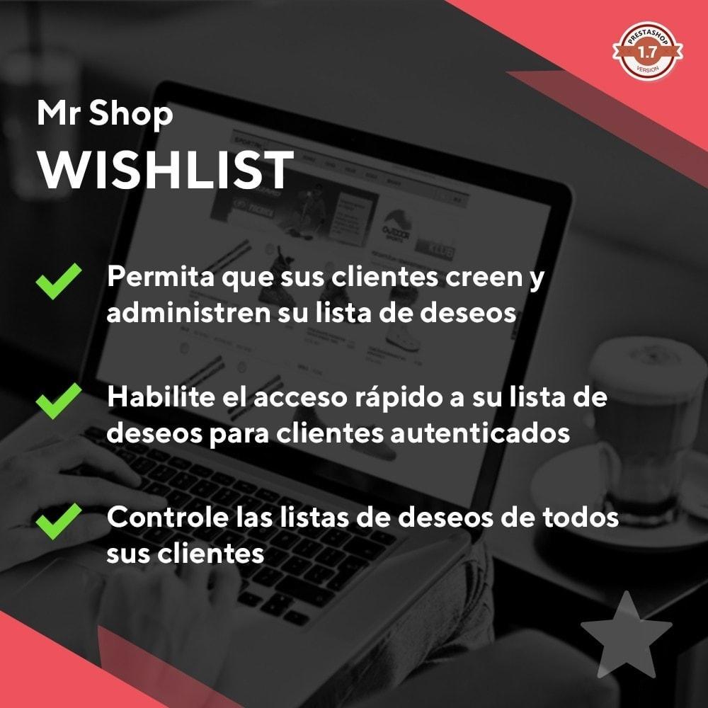 module - Lista de deseos y Tarjeta regalo - Mr Shop Wishlist - 1