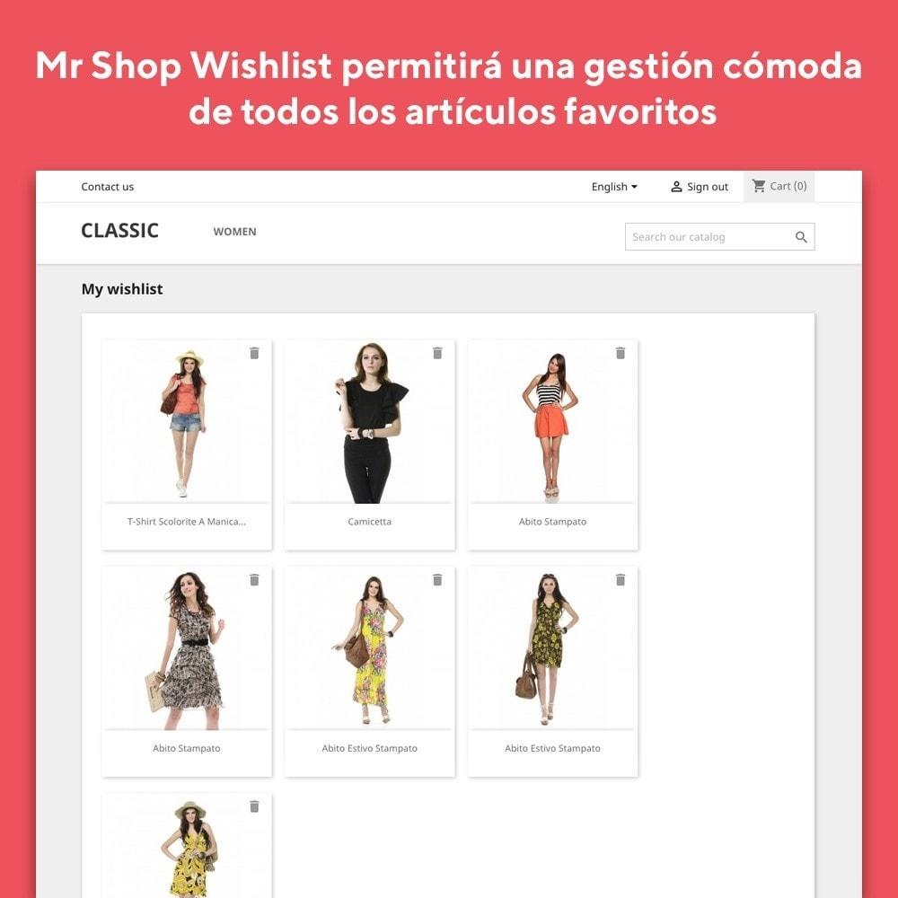 module - Lista de deseos y Tarjeta regalo - Mr Shop Wishlist - 4