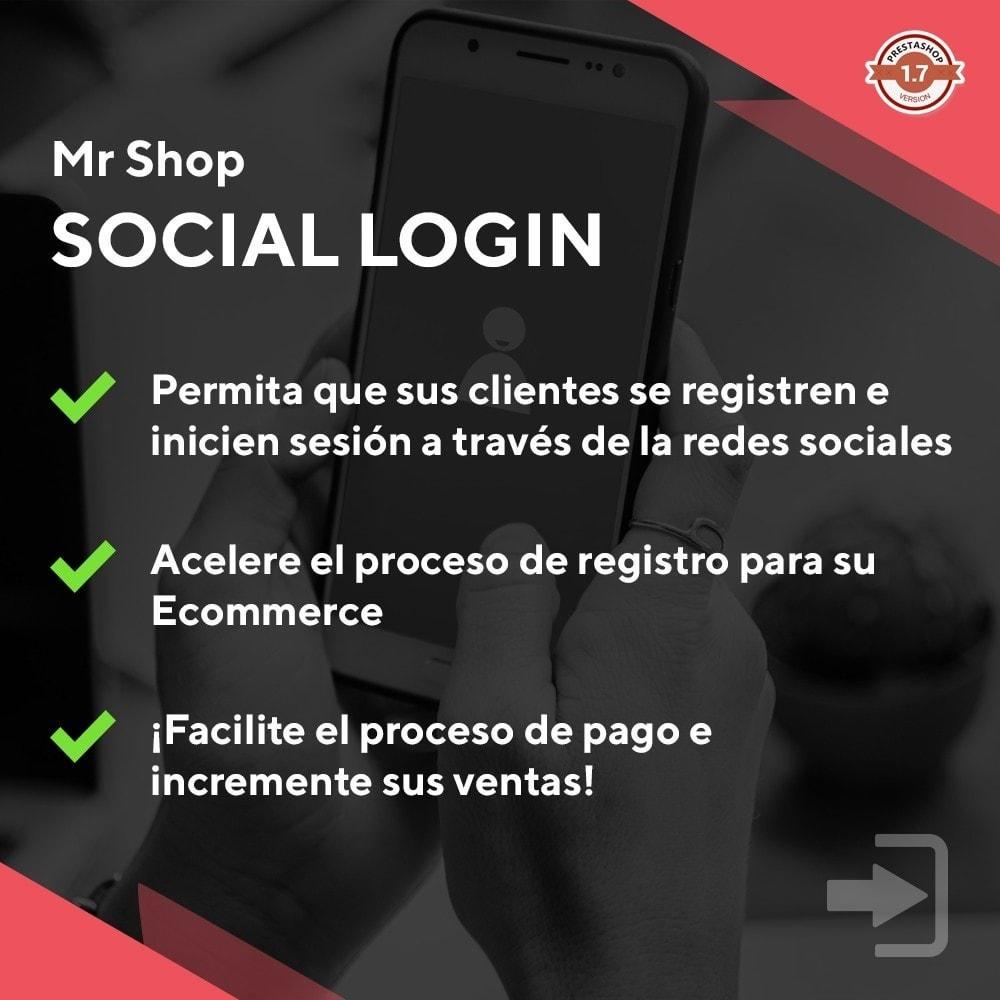 module - Botones de inicio de Sesión/Conexión - Mr Shop Social Login - 1