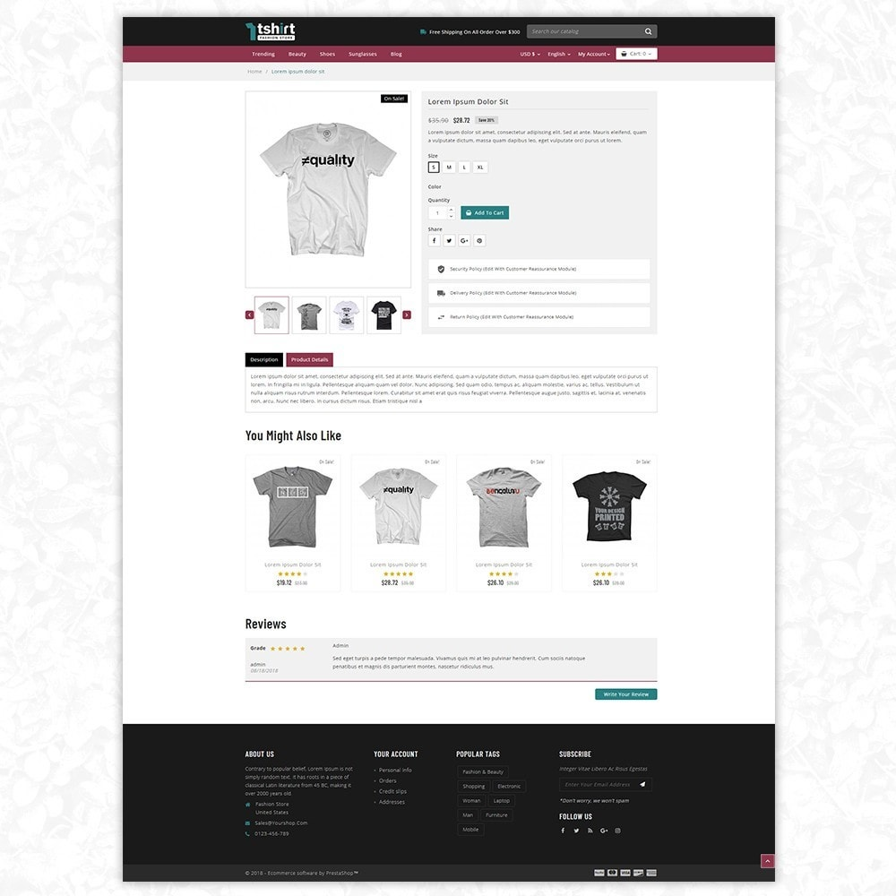 theme - Mode & Schoenen - Tshirt - Fashion store - 6