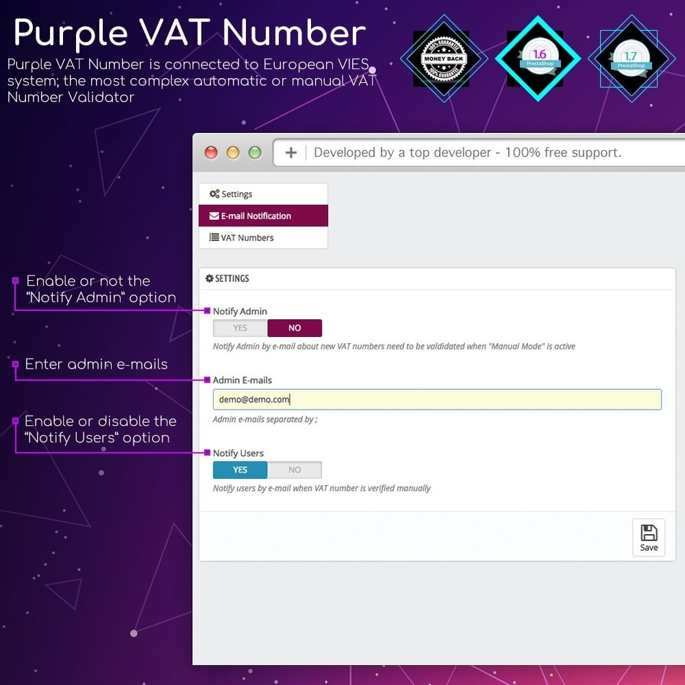 module - Internationaal & Lokalisatie - Purple VAT Number - 3