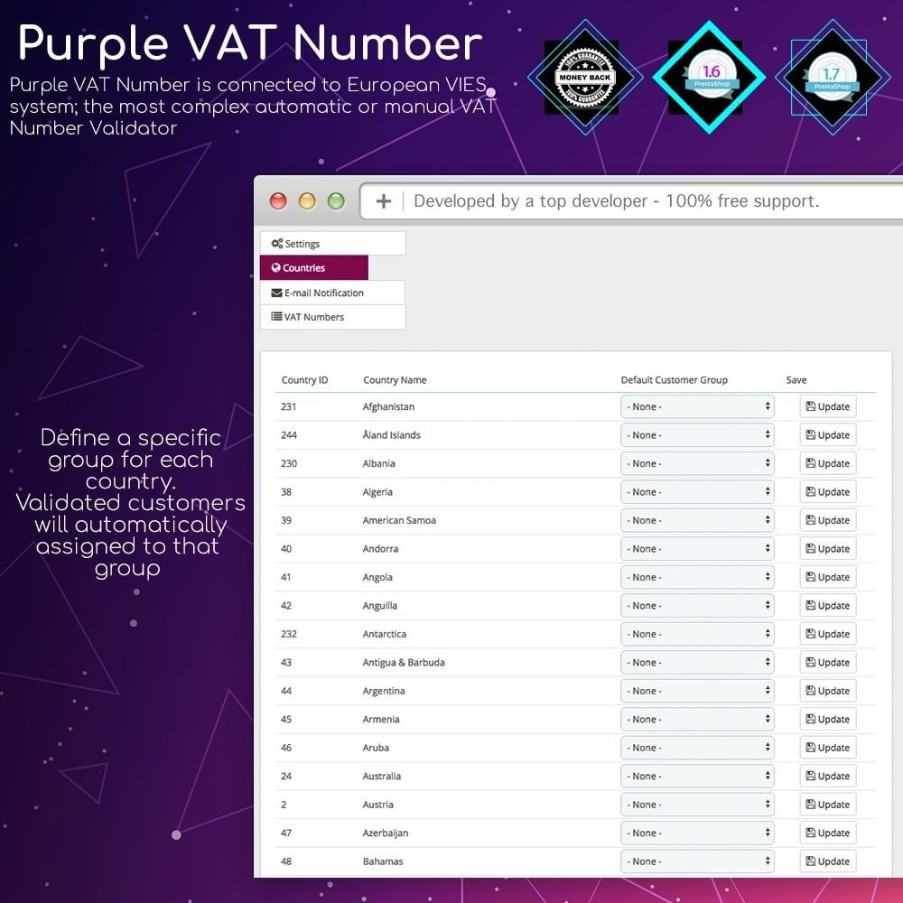 module - Internationaal & Lokalisatie - Purple VAT Number - 5