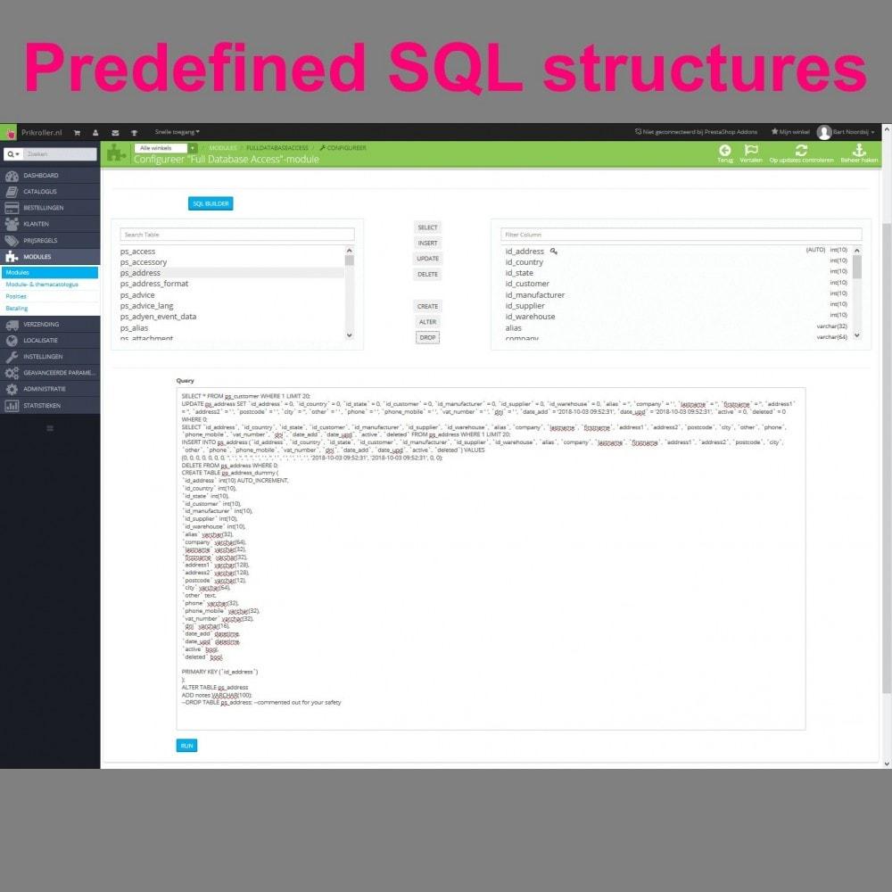 module - Importación y Exportación de datos - Full Database Access - 7