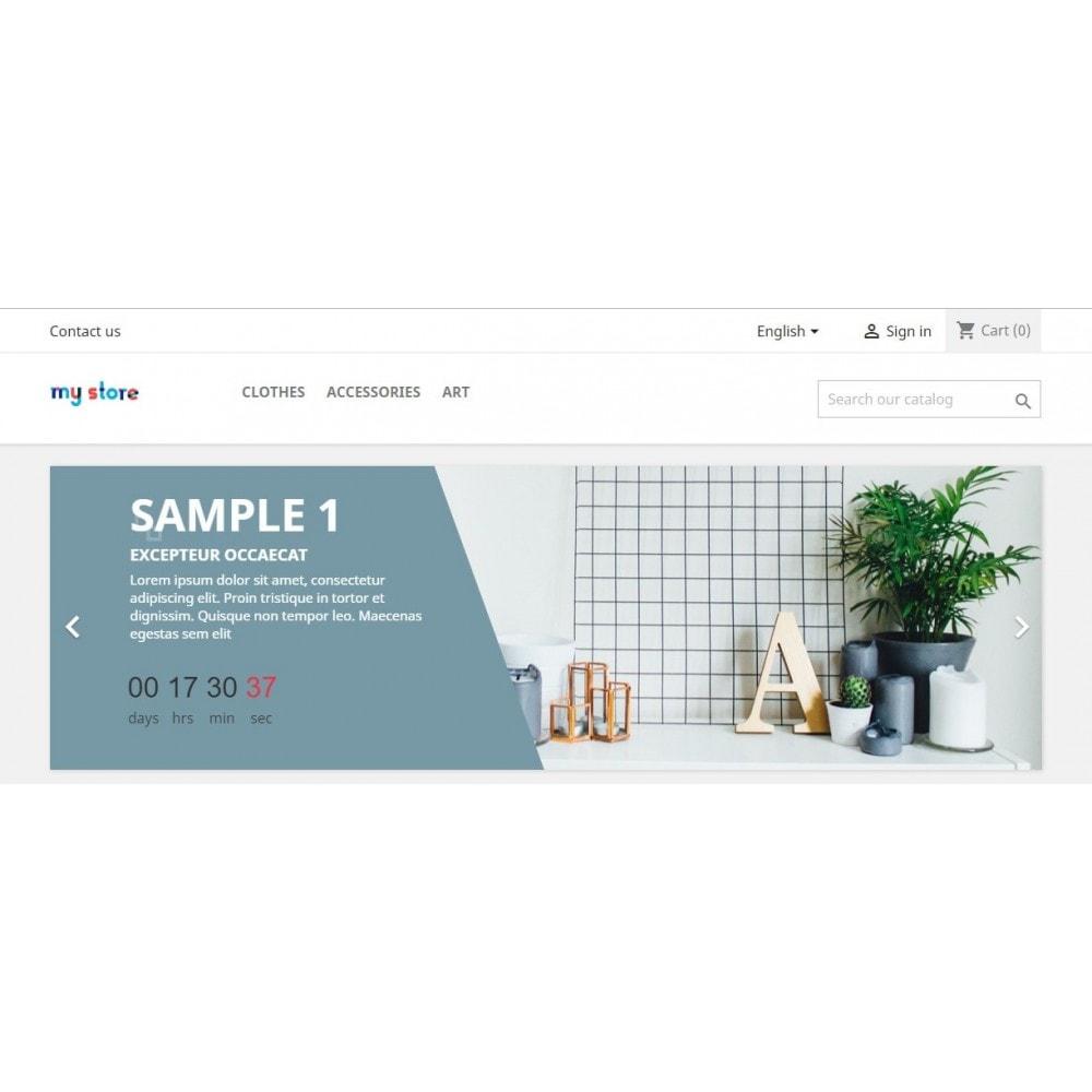 module - Закрытых и рекламных распродаж - Баннер с обратным отсчетом PRO - 3