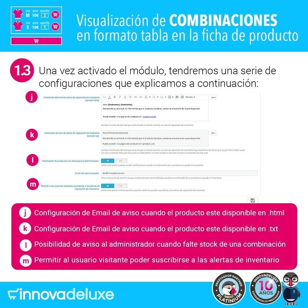 module - Combinaciones y Personalización de productos - Tabla de combinaciones en ficha de productos - 4
