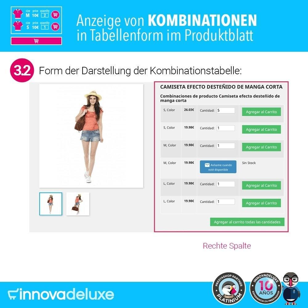 module - Bundels & Personalisierung - Produktdatenblatt mit Kombinationstabelle - 7