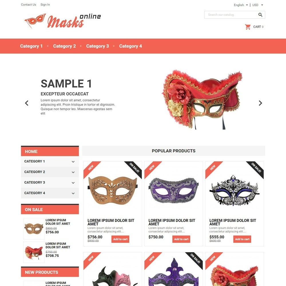 theme - Gifts, Flowers & Celebrations - MasksOnline - 1