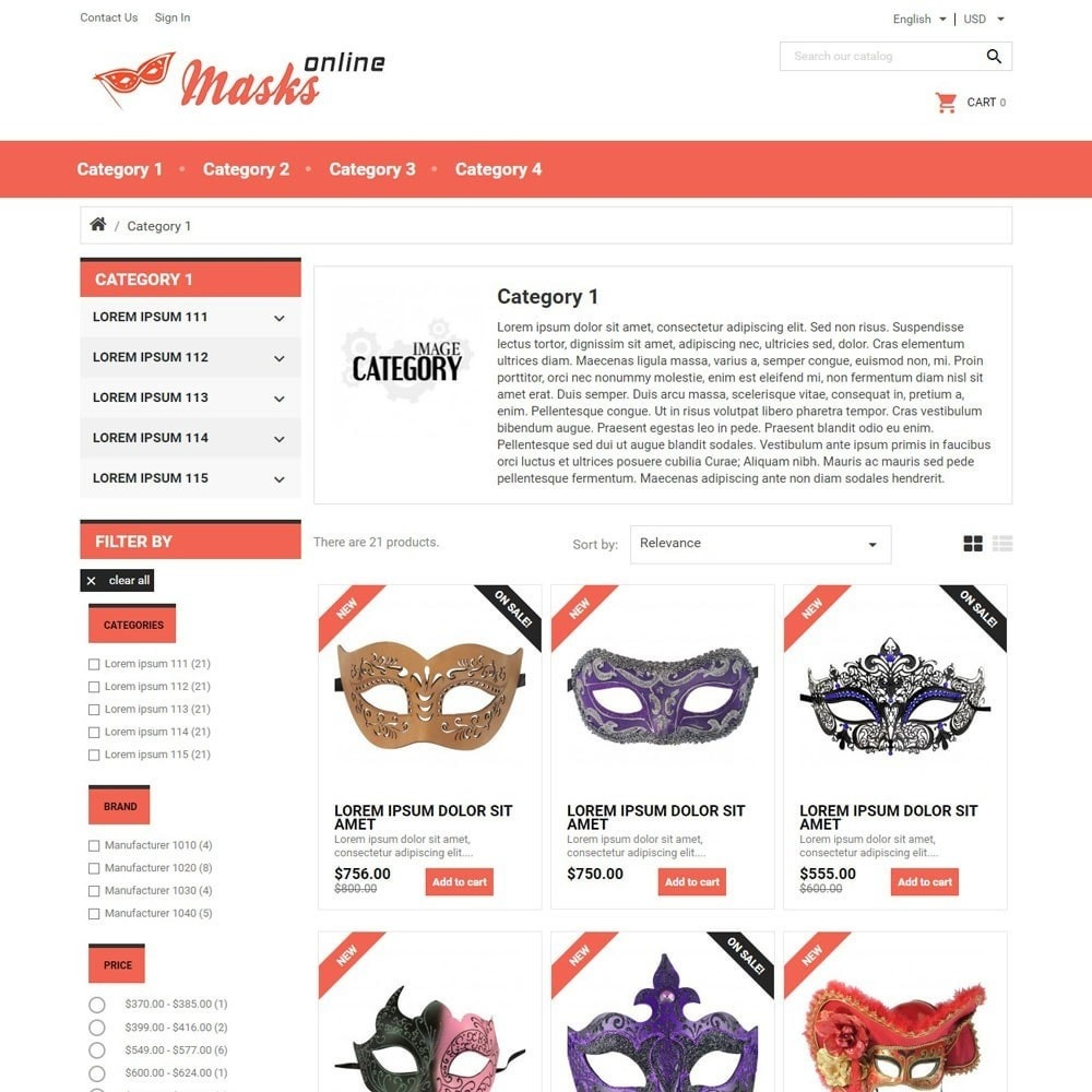 theme - Gifts, Flowers & Celebrations - MasksOnline - 2