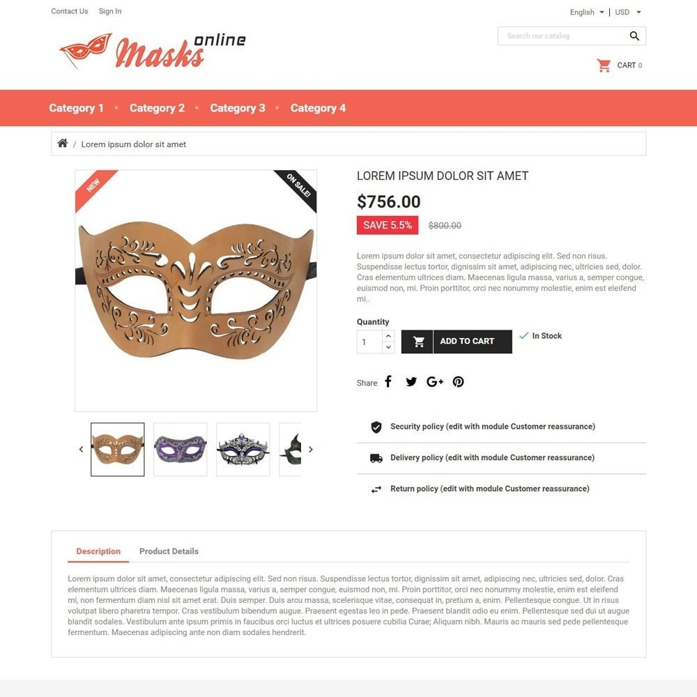 theme - Gifts, Flowers & Celebrations - MasksOnline - 3