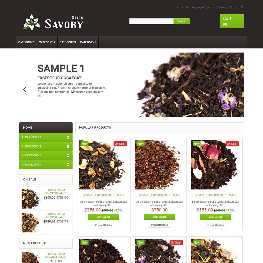 theme - Food & Restaurant - SavorySpice - 1