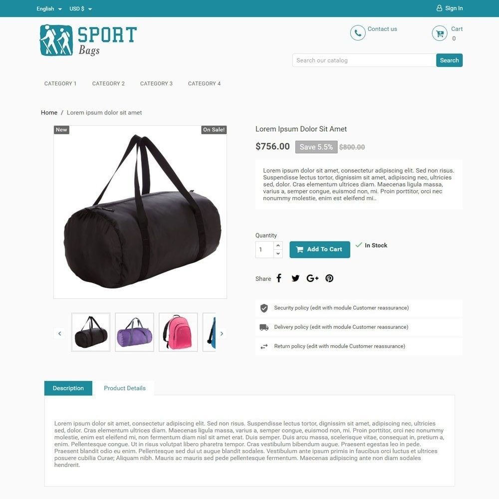 theme - Sports, Activities & Travel - SportBags - 3