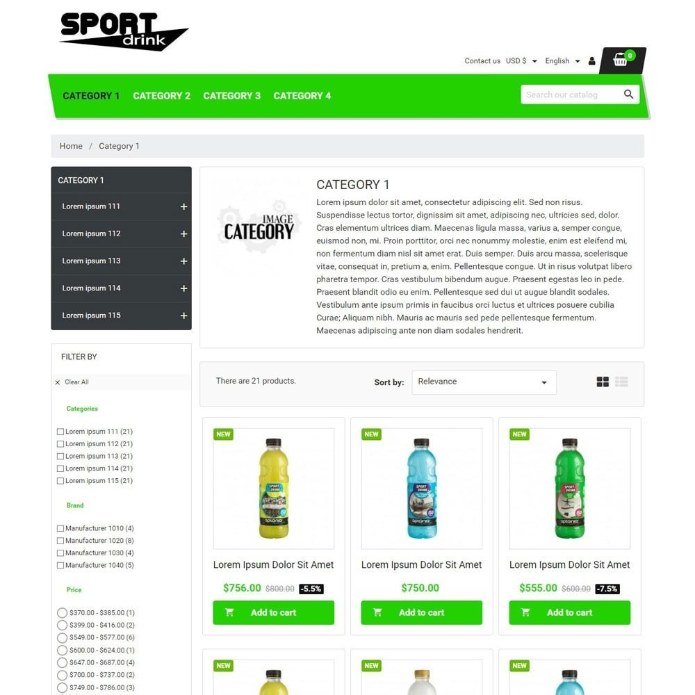 theme - Sports, Activities & Travel - SportDrink - 2