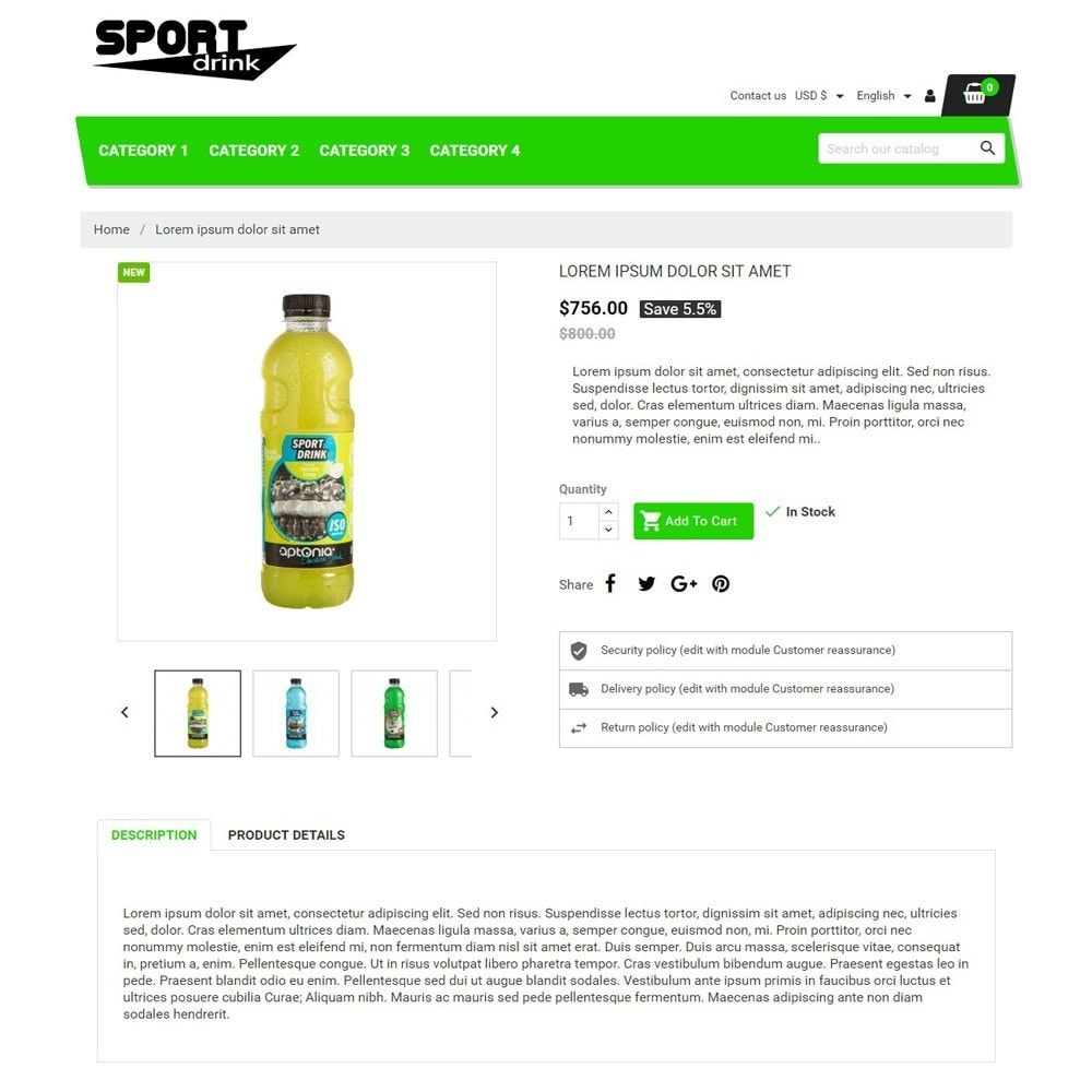 theme - Sports, Activities & Travel - SportDrink - 3