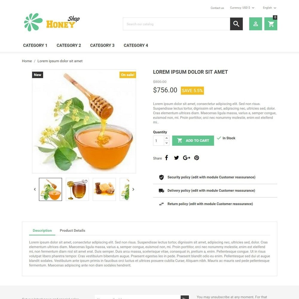 theme - Lebensmittel & Restaurants - HoneyShop - 3