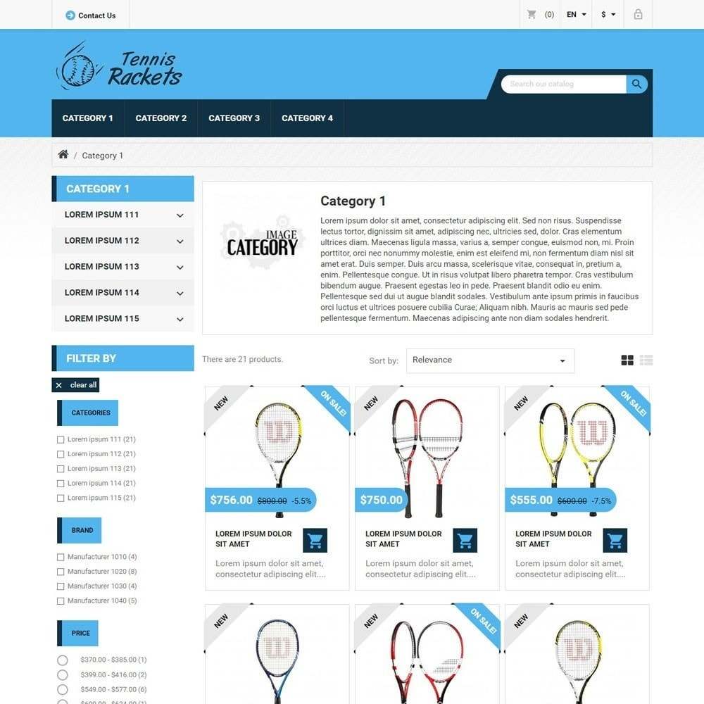 theme - Sports, Activities & Travel - TennisRackets - 2