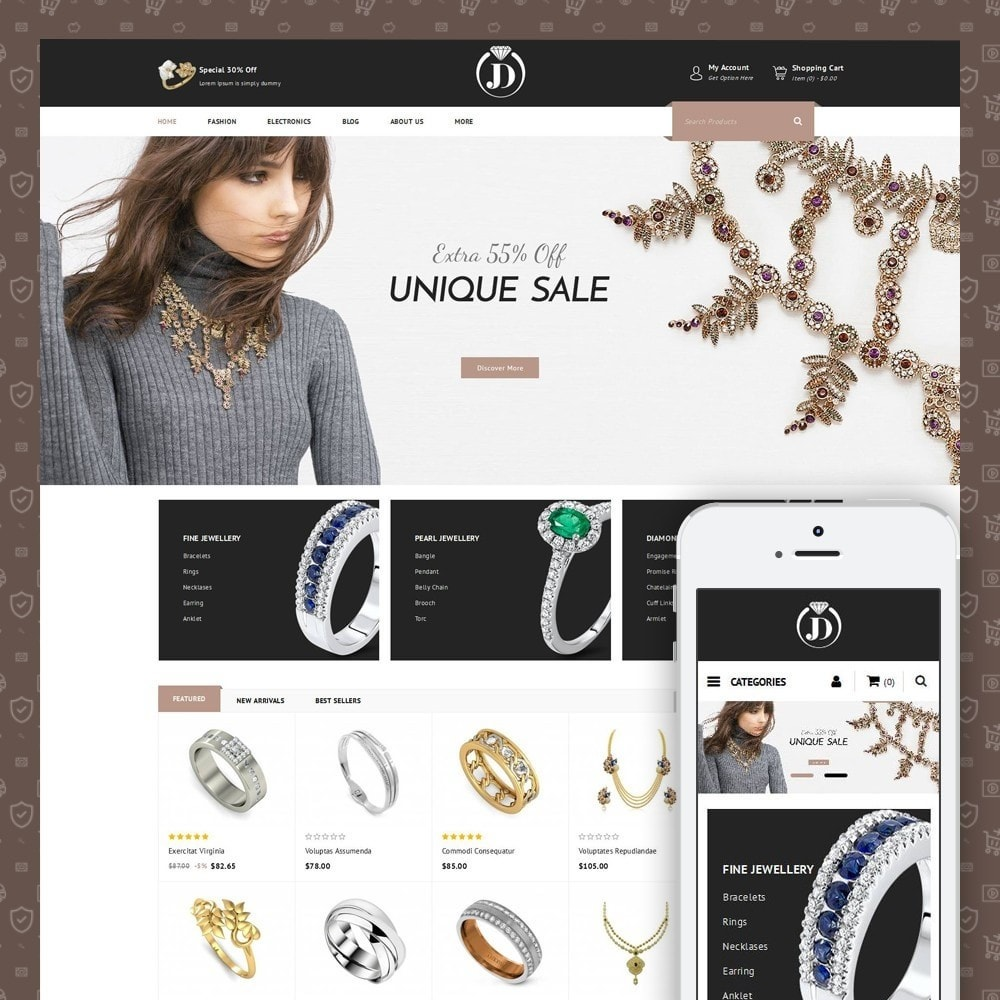 theme - Jewelry & Accessories - JD - Diamond Jewelry Store - 1