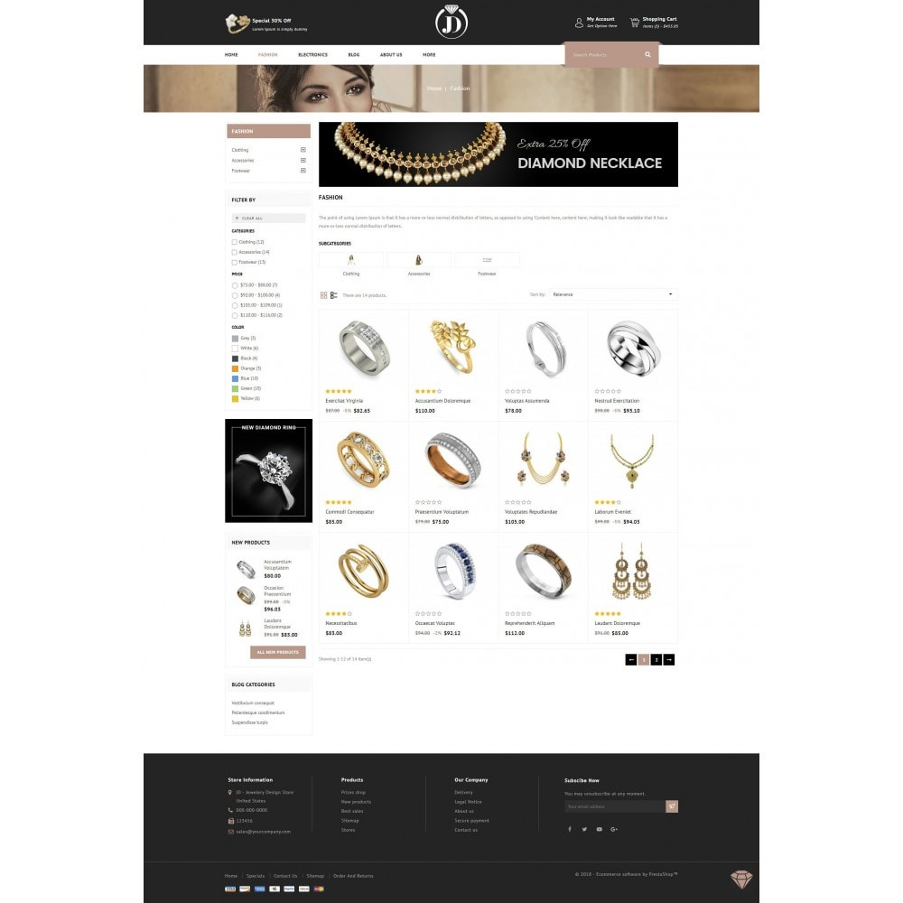 theme - Jewelry & Accessories - JD - Diamond Jewelry Store - 3