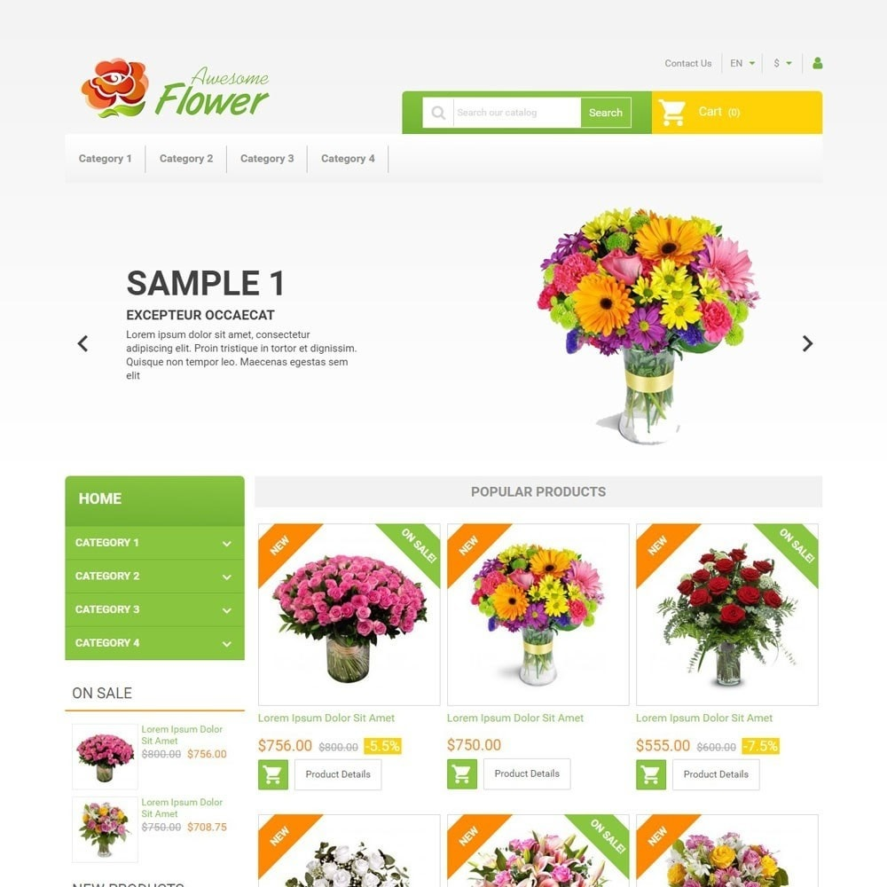 theme - Cadeaux, Fleurs et Fêtes - AwesomeFlowers - 1