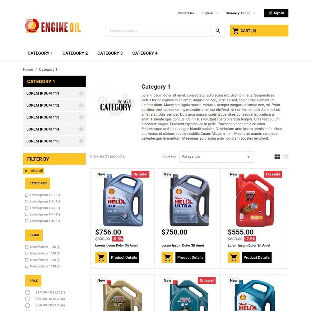 theme - Carros & Motos - EngineOil - 2