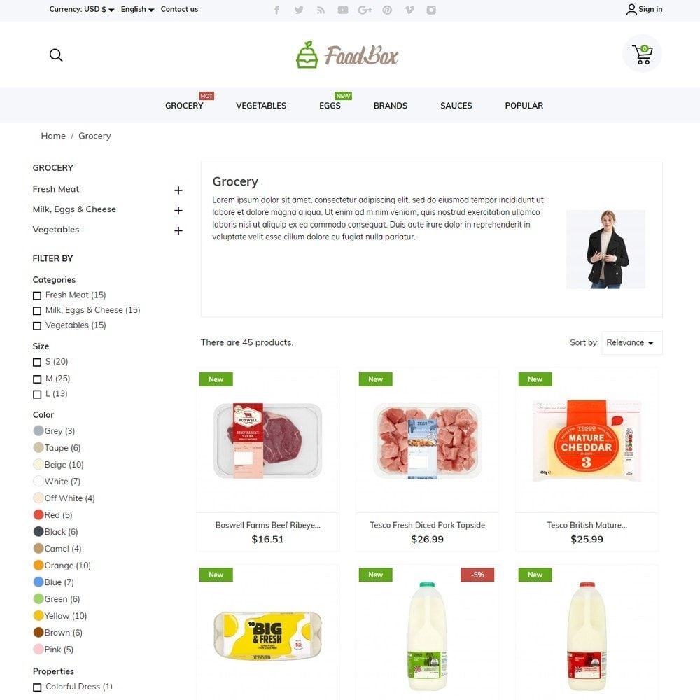 theme - Food & Restaurant - FoodBox - 6