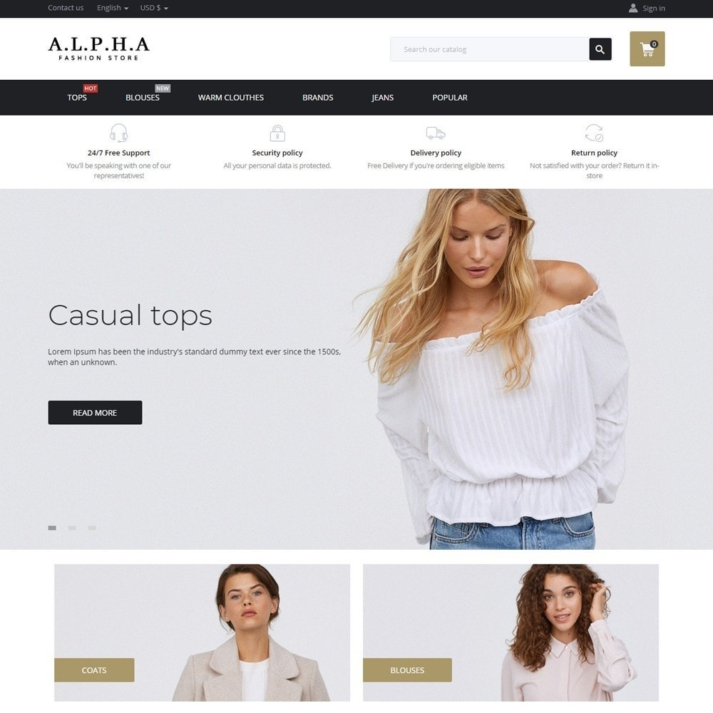 theme - Mode & Chaussures - Alpha Fashion Store - 2
