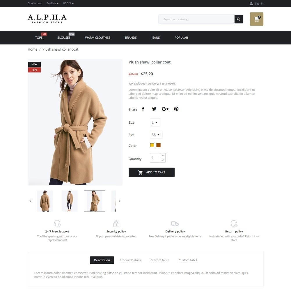 theme - Mode & Chaussures - Alpha Fashion Store - 6