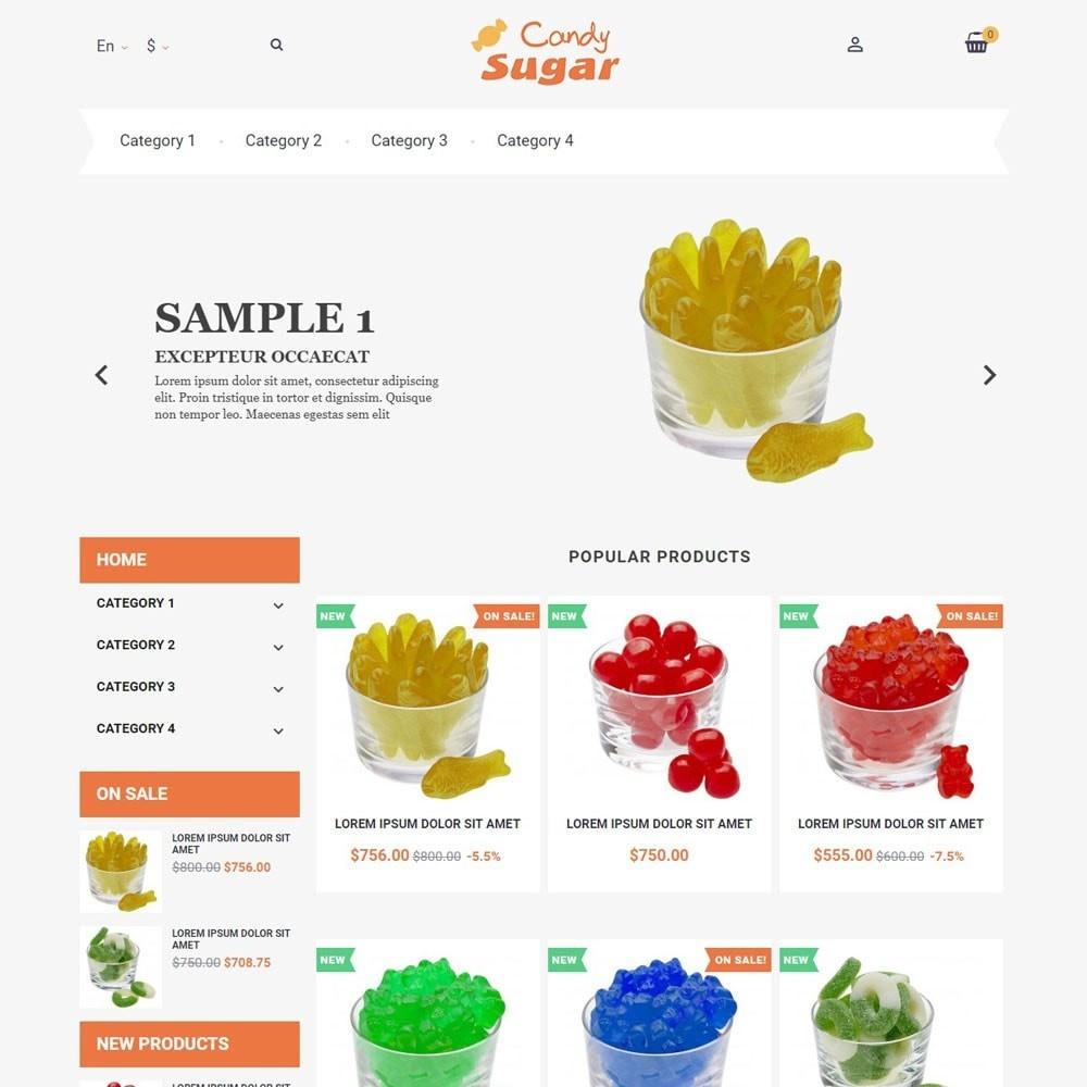 theme - Alimentos & Restaurantes - CandySugar - 1