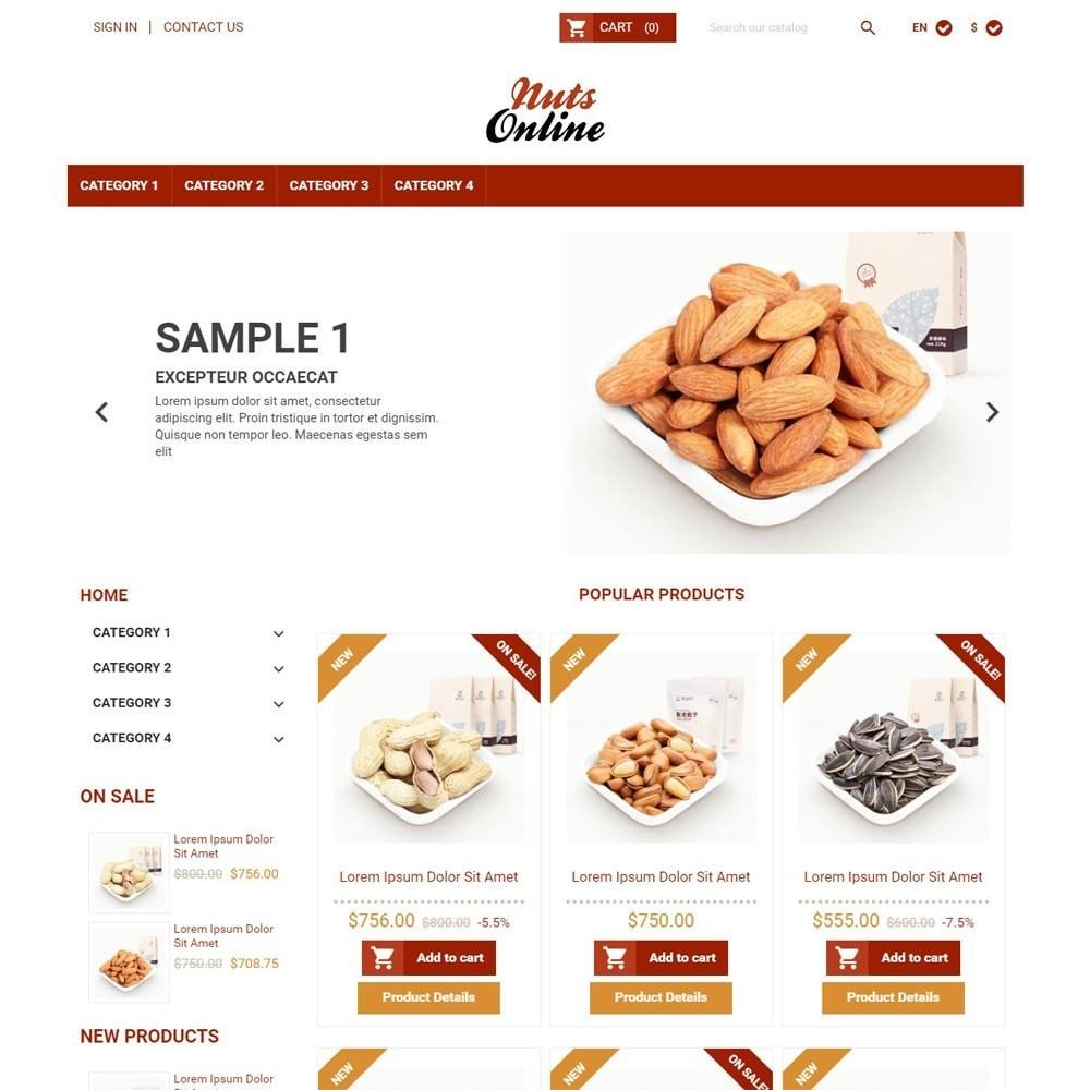theme - Food & Restaurant - NutsOnline - 1