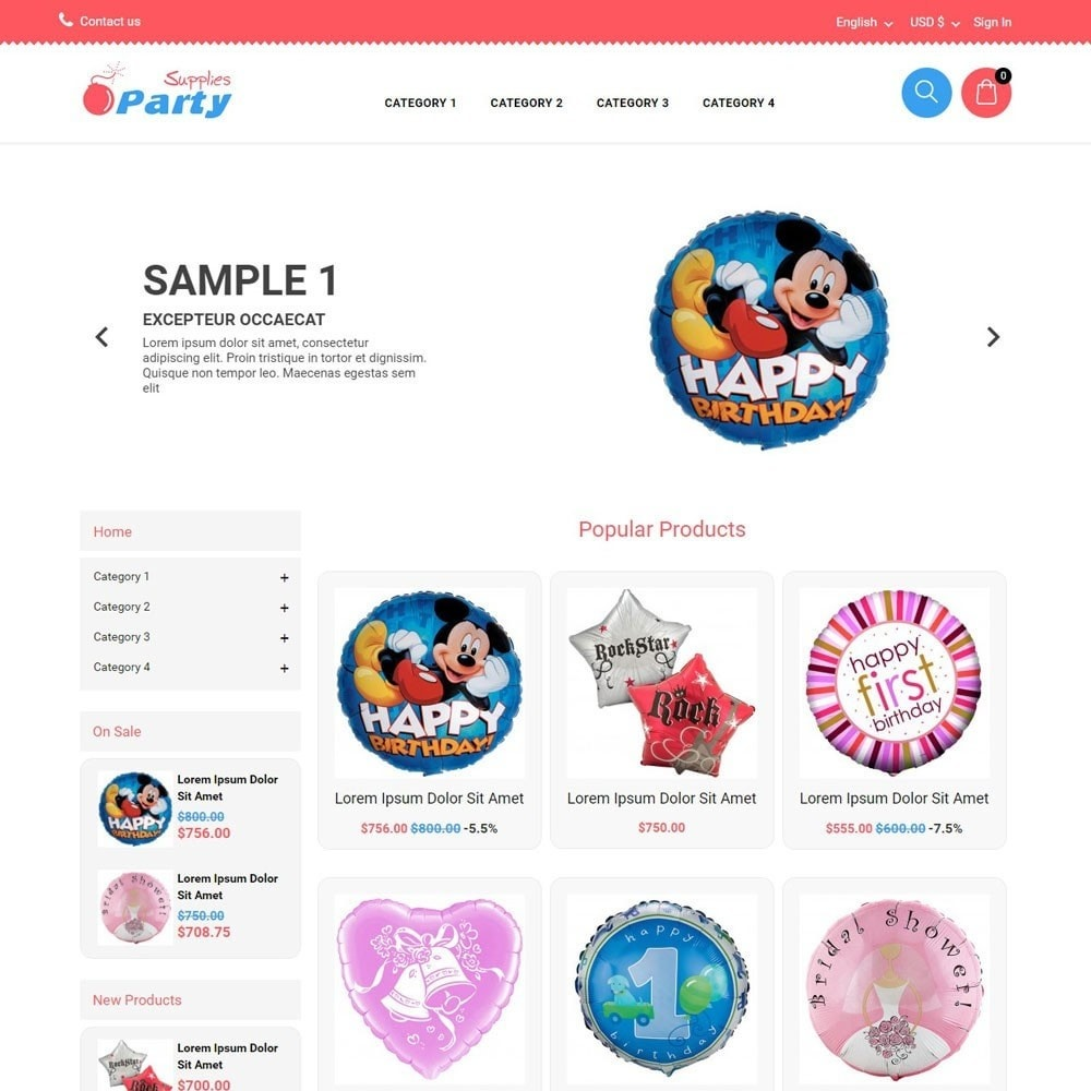 theme - Kinder & Spielzeug - PartySupplies - 1