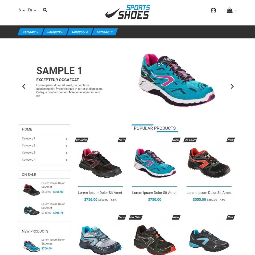 theme - Sports, Activities & Travel - SportsShoes - 1