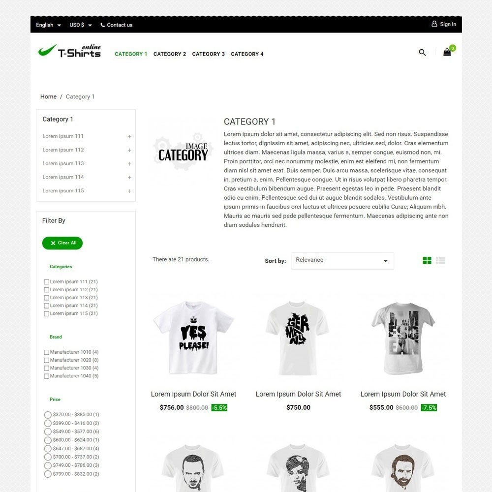 theme - Mode & Chaussures - T-shirtsOnline - 2