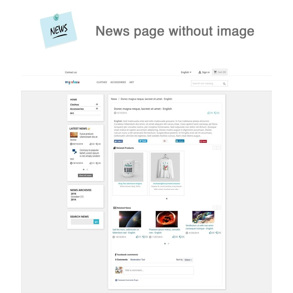 module - Blog, Forum & News - News Advanced + Google Rich Snippets - 4