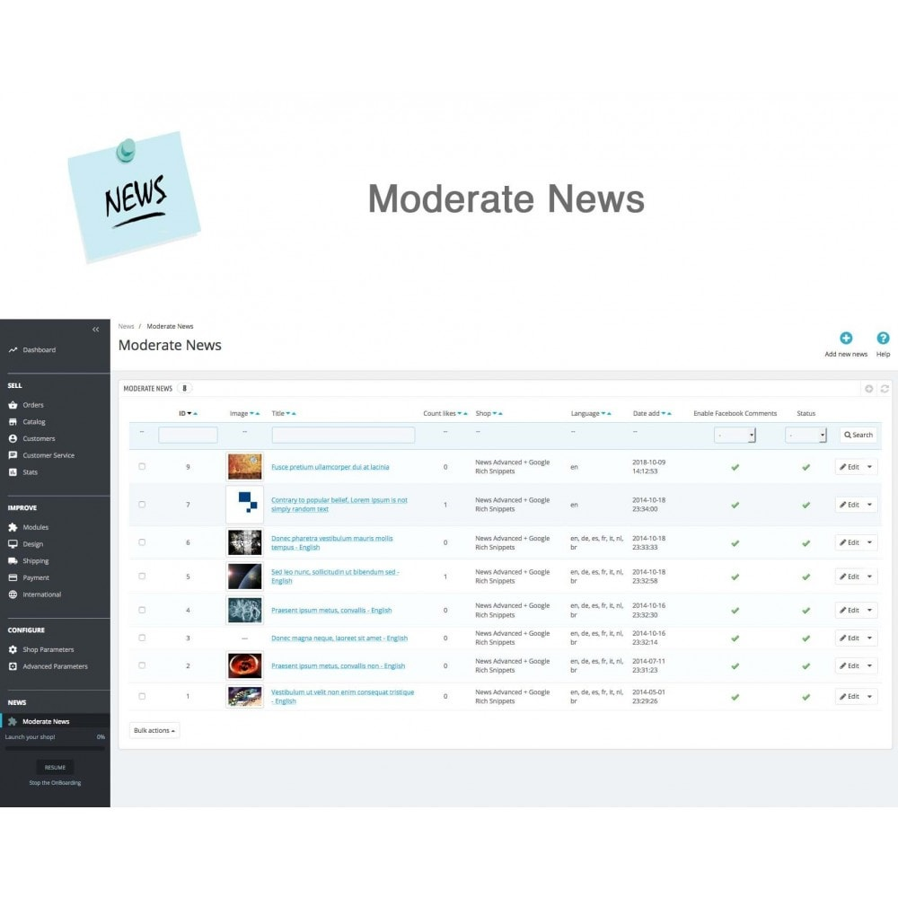 module - Blog, Forum & News - News Advanced + Google Rich Snippets - 18