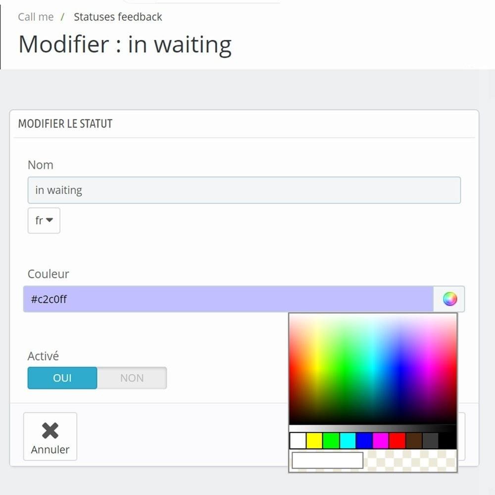 module - Support & Chat Online - Appelez-moi - Module de rappel - 10