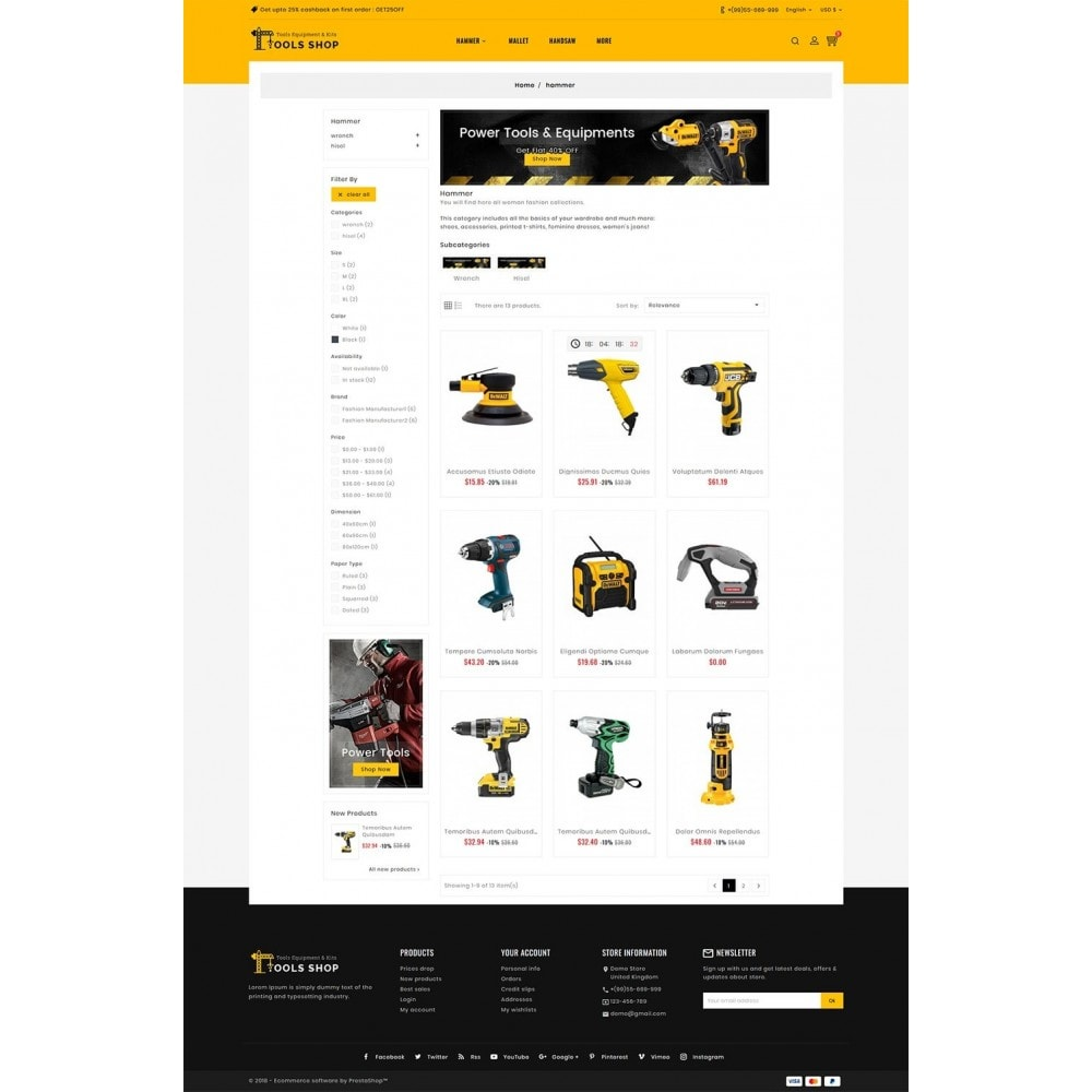 theme - Home & Garden - Tools Equipment Shop - 3