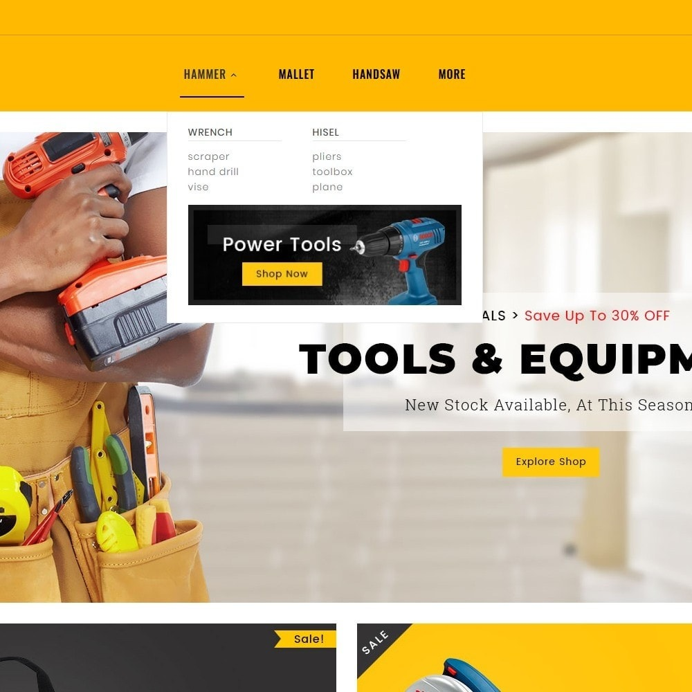 theme - Home & Garden - Tools Equipment Shop - 8