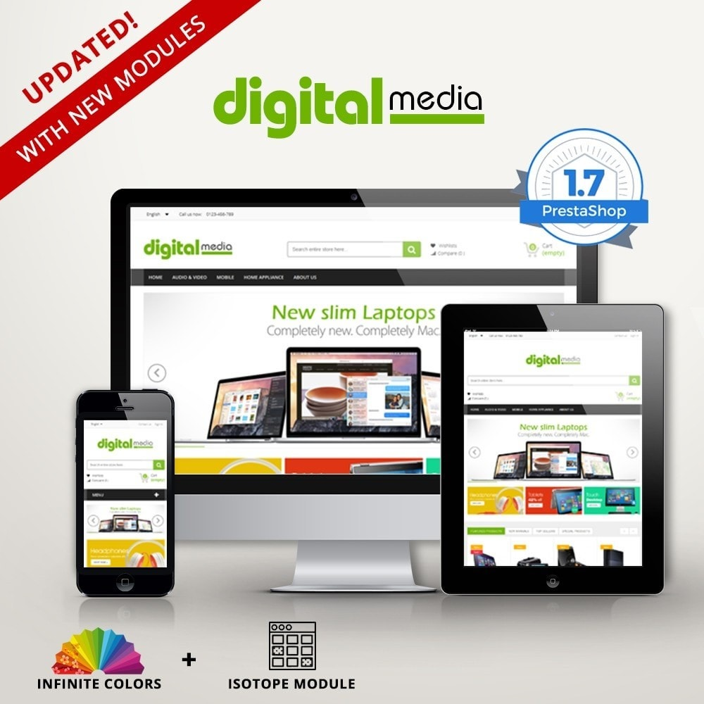 theme - Elektronica & High Tech - Digitalmedia Multi-purpose HTML5 - 1