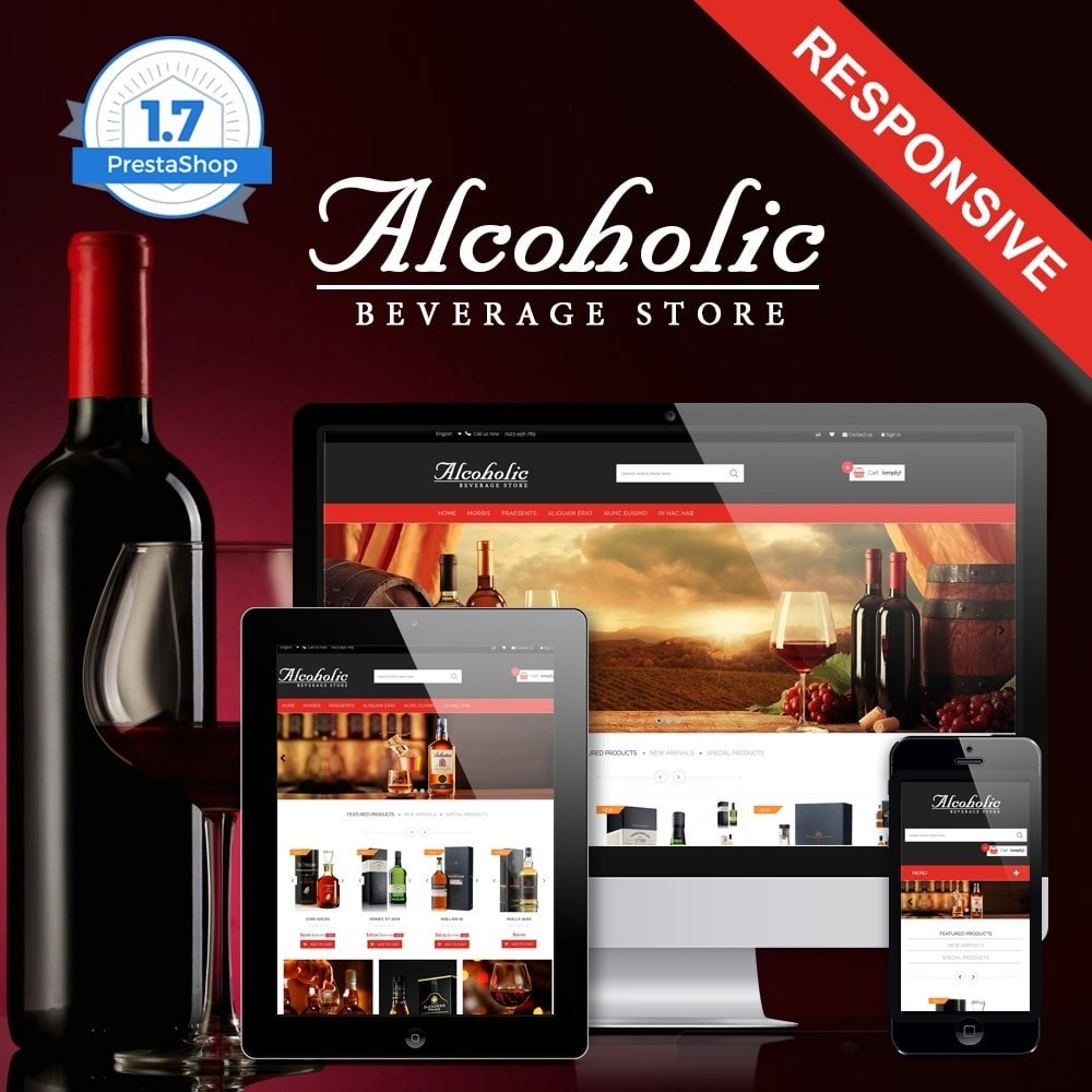 theme - Bebidas & Tabaco - Alcoholic & Wine Shop HTML5 - 1