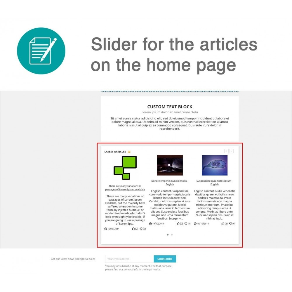module - Blog, Fórum & Notícias - Articles Advanced + Google Rich Snippets - 5