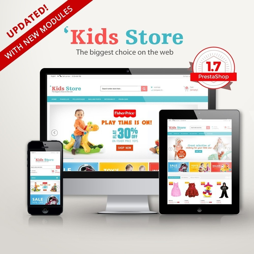theme - Kids & Toys - Kids Store Multipurpose RFX0012 - 1